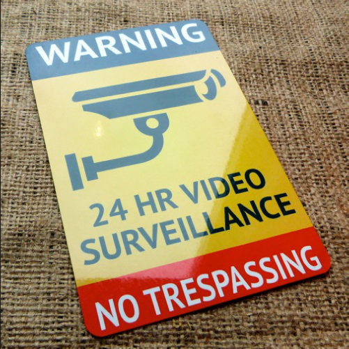 24 Hour Surveillance Security Sign