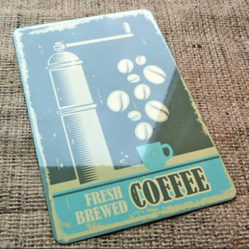 Fresh Brewed Coffee Vintage Style Sign