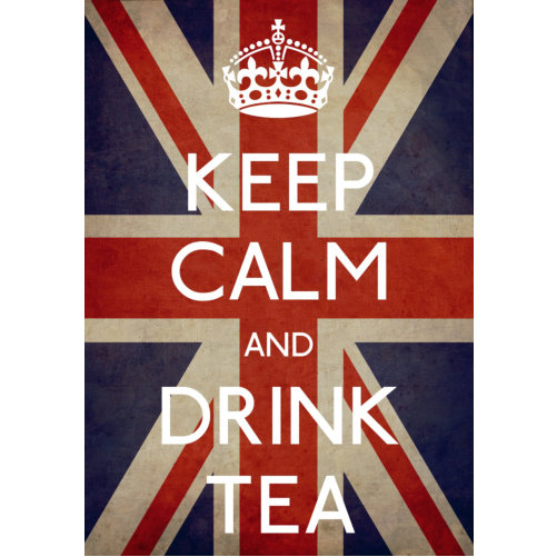 Keep Calm Drink Tea Sign