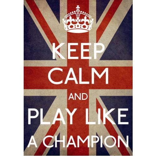 Keep Calm Play Like A Champion