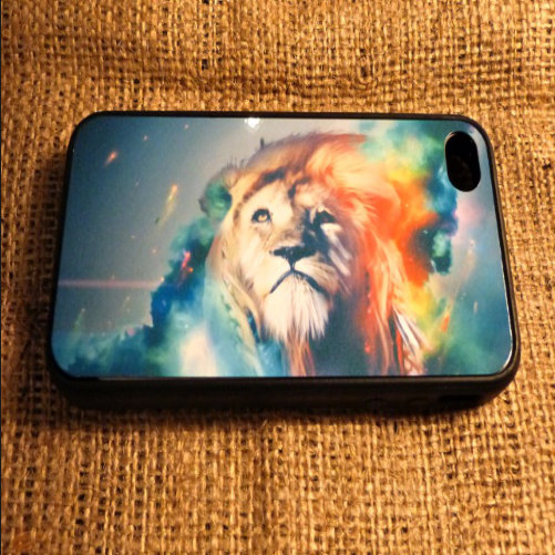 Lion Iphone Case for 4 and 4S