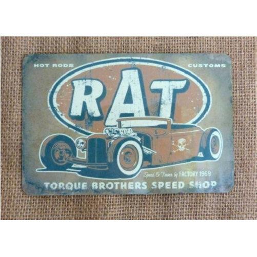 Rat Hotrods Vintage Style Sign