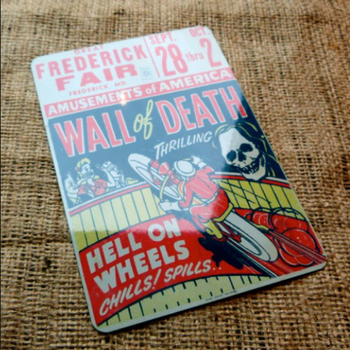 Wall Of Death Vintage Style Sign