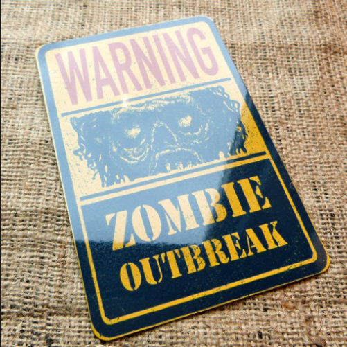 Zombie Outbreak Sign Novelty Sign