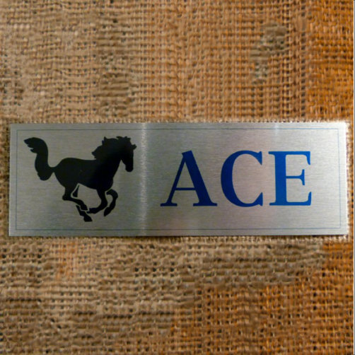Ace Aluminium Horse Sign