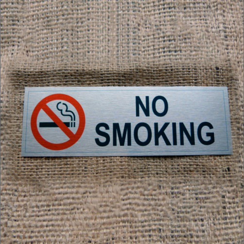 Aluminium No Smoking WithIcon
