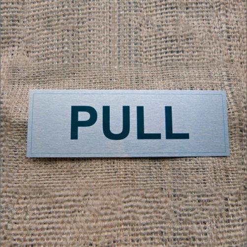 Aluminium Pull Sign