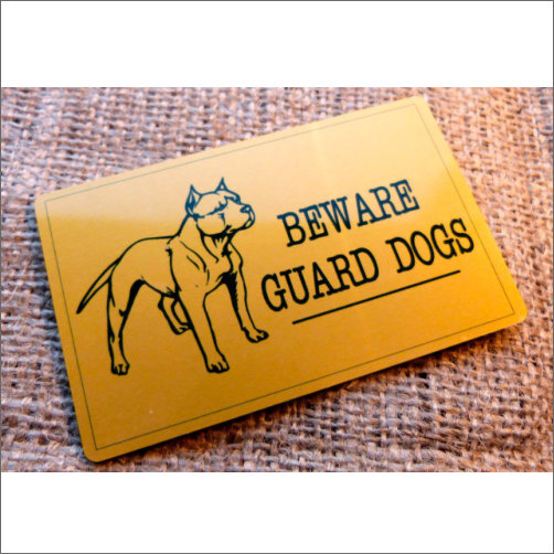 Beware Guard Dog Small Sign