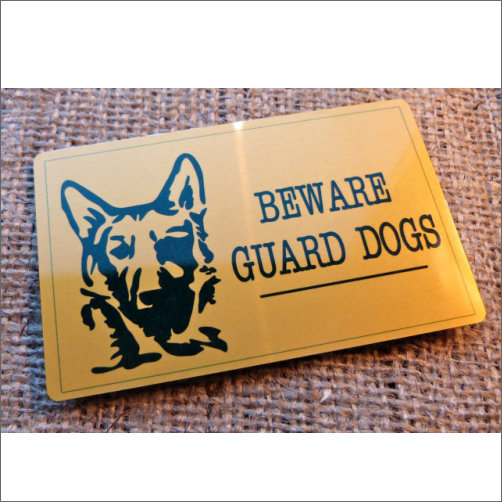 German Shephard Guard Dog Sign