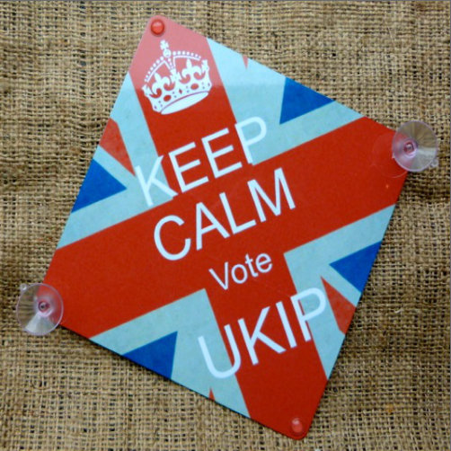 Keep Calm Vote UKIP Car Sign