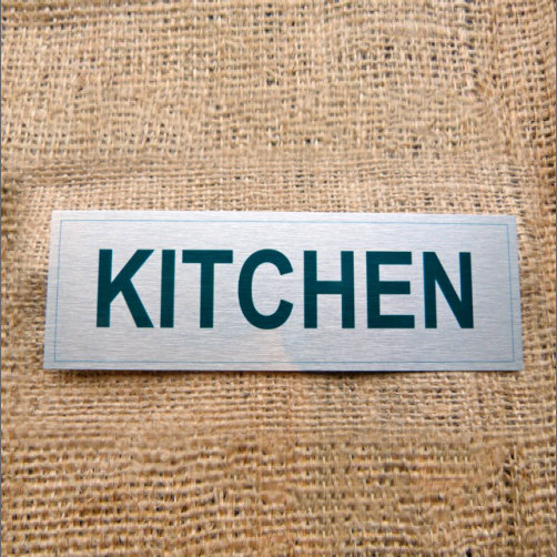 Aluminium Kitchen Sign