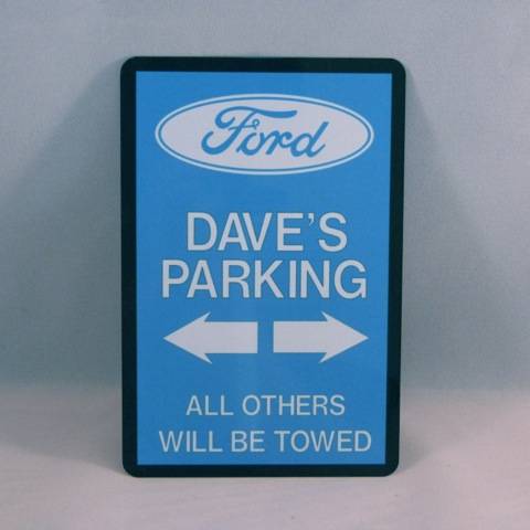 Personalised Ford Parking Sign