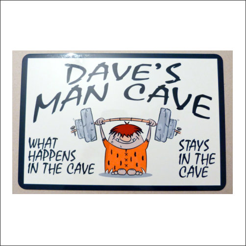 Personalise Mane Cave Sign