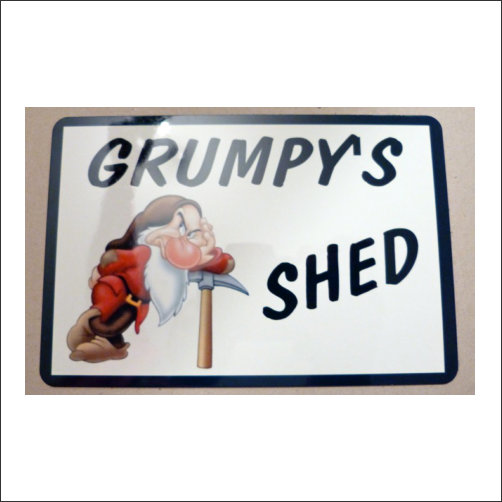 Grumpys Shed Sign