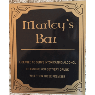 Novelty Bar Sign