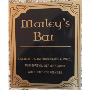 Novelty Bar Sign