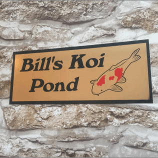 Personalised Koi Pond Sign
