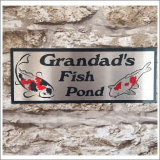 Koi Pond Sign