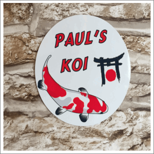 Round Koi Pond Sign