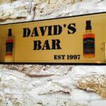 Home Bar Sign