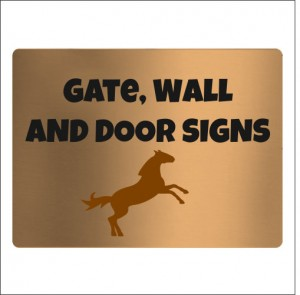 Gate, Wall & Door Signs