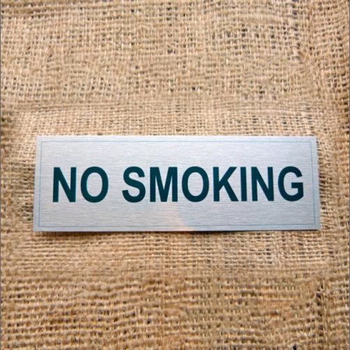 Aluminium No Smoking Sign