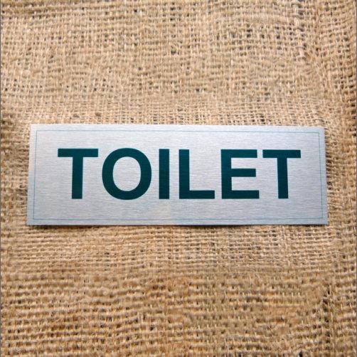 Silver Coloured Office Aluminium Toilet Sign