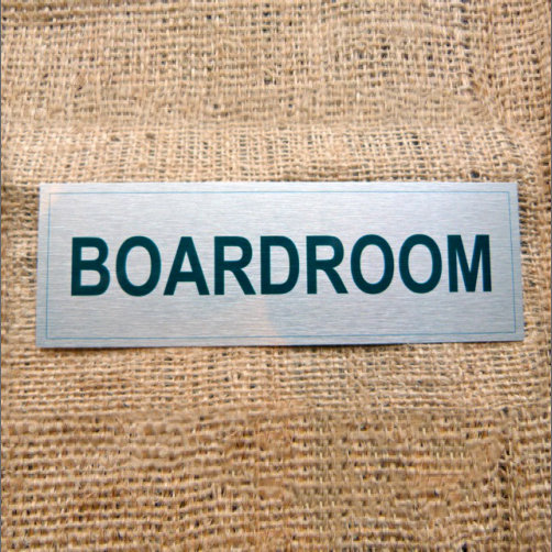 Silver Coloured Aluminium Board Room Sign