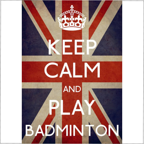 keep calm play badminton