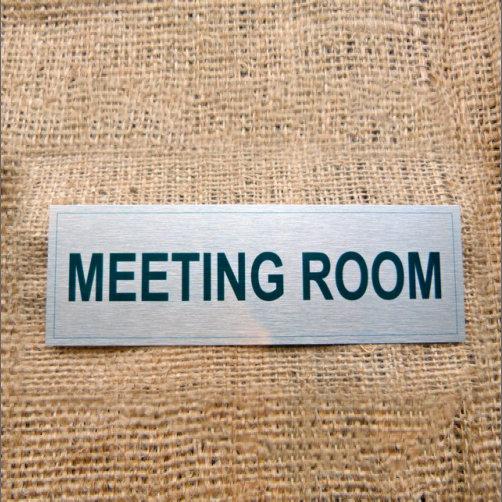 Silver Coloured Aluminium Meeting Room Sign
