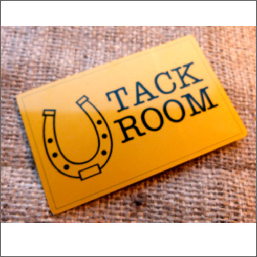 Tack Room Sign Made From Aluminium Gold Coloured Finish